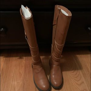 Brand new womens, distressed riding boots